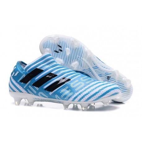 Chaussure de Football pour Hommes - adidas Nemeziz 17+ 360 Agility FG Blanc Legend Ink Bleu
