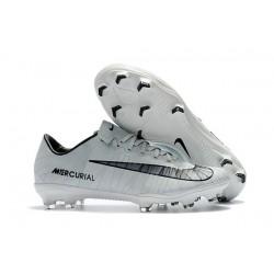 Nike Mercurial Vapor XI FG ACC Crampon Homme CR7 Gris Noir Blanc