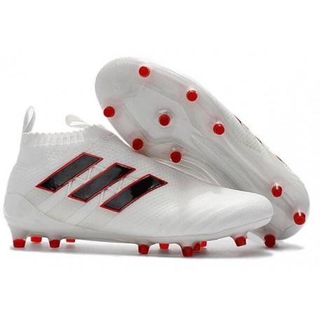 Nouveau Chaussures de Football Adidas Ace16+ Purecontrol FG/AG Blanc Noir Rouge