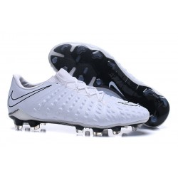 Nouvelles Crampons de Football Nike Hypervenom Phantom III FG Blanc Noir