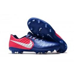 Nouvelle chaussure de foot Nike Tiempo Legend 7 FG Bleu Rose