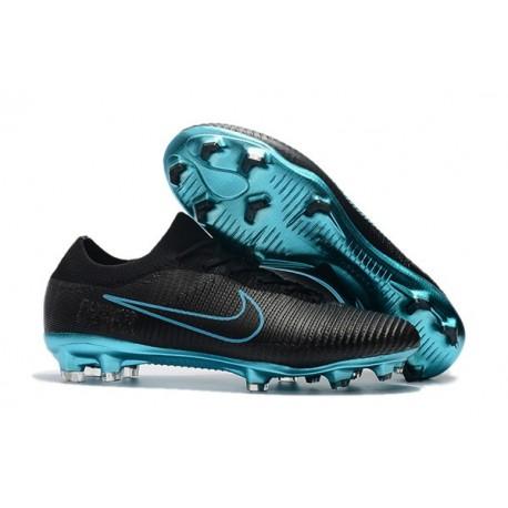 Crampons Pour Hommes - Nike Mercurial Vapor Flyknit Ultra FG Noir Bleu