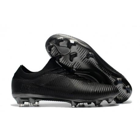 Crampons Pour Hommes - Nike Mercurial Vapor Flyknit Ultra FG Tout Noir