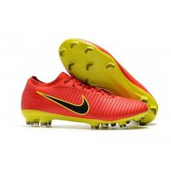 Crampons Pour Hommes - Nike Mercurial Vapor Flyknit Ultra FG Rouge Jaune Noir