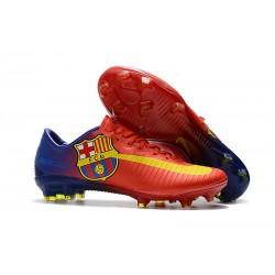 Nike Mercurial Vapor XI FG ACC Crampon Homme Barcelona Rouge Bleu Jaune