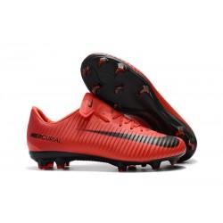 Nike Mercurial Vapor XI FG ACC Crampon Homme Rouge Noir