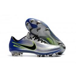 Nike Mercurial Vapor XI FG ACC Crampon Homme Argent Bleu
