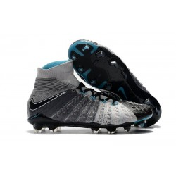 Crampon Foot Nouveaux Nike Hypervenom Phantom III DF FG ACC - Gris Noir Bleu