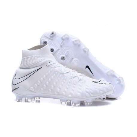 Crampon Foot Nouveaux Nike Hypervenom Phantom III DF FG ACC - Tout Blanc
