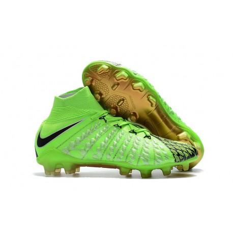 Crampon Foot Nouveaux Nike Hypervenom Phantom III DF EA FG ACC - Vert Noir Or