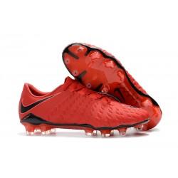 Nouvelles Crampons de Football Nike Hypervenom Phantom III FG Rouge Noir