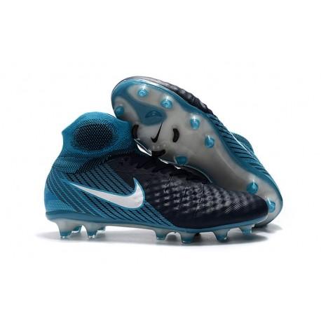 Nike Magista Obra 2 FG Nouveaux Crampons Foot Pour Hommes Blanc Bleu Noir