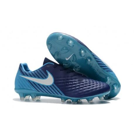 Nouvelles Chaussures de Football Nike Magista Opus II FG Bleu Blanc