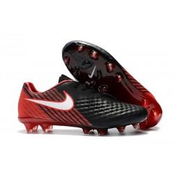 Nouvelles Chaussures de Football Nike Magista Opus II FG Noir Rouge Blanc