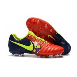 Nouveau Crampons foot Nike Tiempo Legend VII FG Rouge Bleu Volt