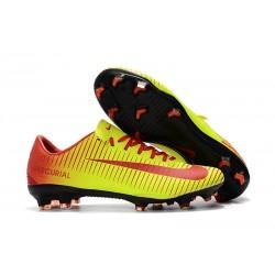 Nike Mercurial Vapor XI FG ACC Crampon Homme Rouge Jaune