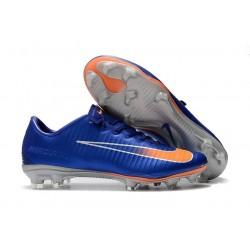 Nike Mercurial Vapor XI FG ACC Crampon Homme Bleu Orange Argent