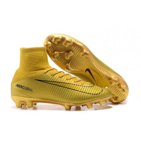 5 Chaussures Fg Or Nike Noir Football Superfly De Pour Hommes Mercurial txhCsQrd
