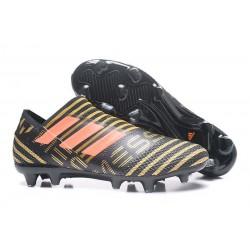 Crampons de Football Hommes - adidas Nemeziz 17+ 360 Agility FG Noir Rouge Tactile Gold Metallic