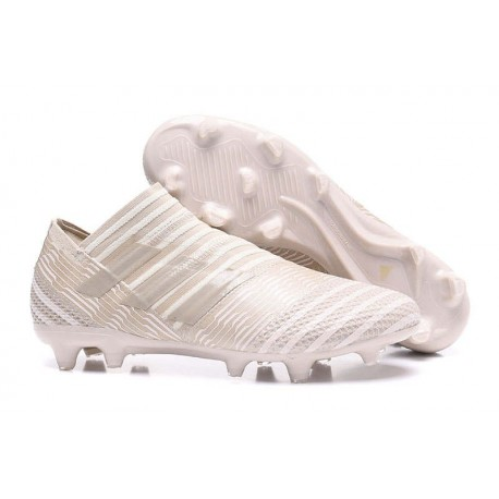 Crampons de Football Hommes - adidas Nemeziz 17+ 360 Agility FG Marron clair Sésame Craie