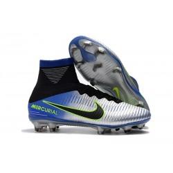 Chaussures de football pour Hommes - Nike Mercurial Superfly 5 FG Bleu Noir Chrome Volt