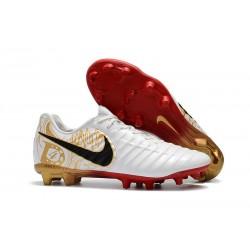 Nouveau Crampons foot Nike Tiempo Legend VII FG Blanc Or Vif