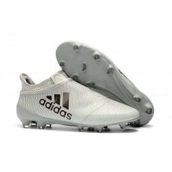 Nouvelle Crampons de Football adidas X 17+ Purespeed FG Blanc Noir