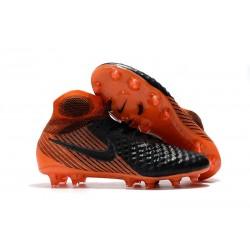 Nike Magista Obra 2 FG Nouveaux Crampons Foot Pour Hommes Noir Blanc Rouge Université
