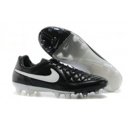 Nouveau Crampons Nike Tiempo Legend V FG Hommes Noir Blanc