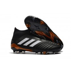 Chaussures adidas - Crampons Foot Adidas Predator 18+ FG Noir Blanc Rouge