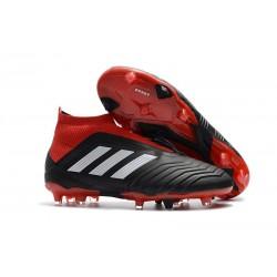 Chaussures adidas - Crampons Foot Adidas Predator 18+ FG Noir Rouge Blanc