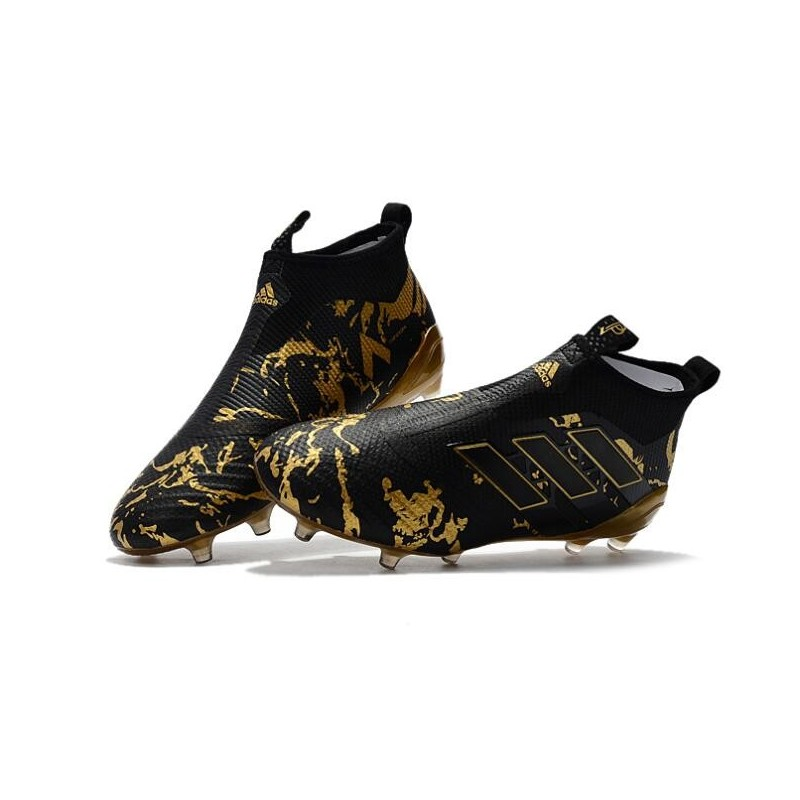 sports shoes 4e6c0 5b79b Adidas Ace17+ Purecontrol FG Chaussures de Football Paul Pogba Capsule Or  Noir
