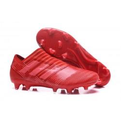 Crampons de Football Hommes - adidas Nemeziz 17+ 360 Agility FG Rouge Rose