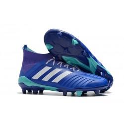 adidas Predator 18.1 FG - Chaussures de Football Adidas Bleu Blanc