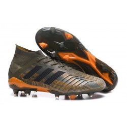 adidas Predator 18.1 FG - Chaussures de Football Adidas Olive Noir Orange Vif