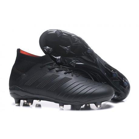 adidas Predator 18.1 FG - Chaussures de Football Adidas Tout Noir