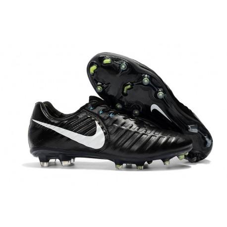 Nouveau Crampons foot Nike Tiempo Legend VII FG Noir Blanc