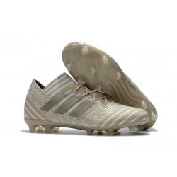 Chaussures Foot adidas - Adidas Nemeziz Messi 17.1 FG Blanc Or