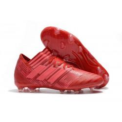 Chaussures Foot adidas - Adidas Nemeziz Messi 17.1 FG Rouge Rose