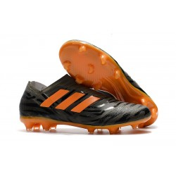 Crampons de Football Hommes - adidas Nemeziz 17+ 360 Agility FG Noir Orange