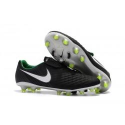 Nouveau Crampons Foot Nike Magista Opus II FG Chaussures Noir Blanc Vert Stade