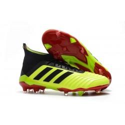adidas Predator 18.1 FG - Chaussures de Football Adidas Volt Noir Rouge