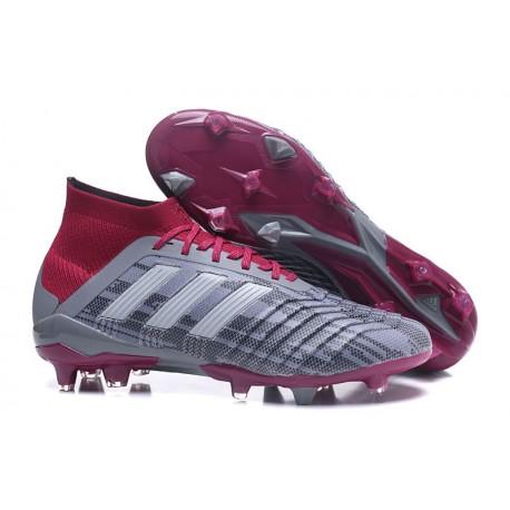 adidas Predator 18.1 FG - Chaussures de Football Adidas Pogba Gris Rouge