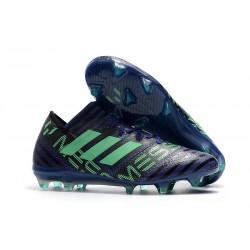 Chaussures Foot adidas - Adidas Nemeziz Messi 17.1 FG Encre Vert Noir