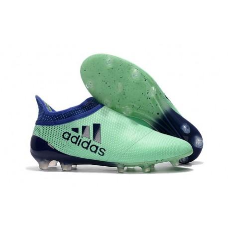 Nouvelle Crampons de Football adidas X 17+ Purespeed FG Vert Aero Encre Vert
