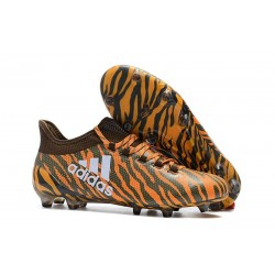 Nouveau Crampons de Football - Adidas X 17.1 FG Orange Vif Olive