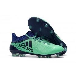 Nouveau Crampons de Football - Adidas X 17.1 FG Vert Aero Encre Vert