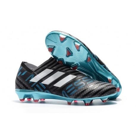 Crampons de Football Hommes - adidas Nemeziz 17+ 360 Agility FG Gris Blanc Noir
