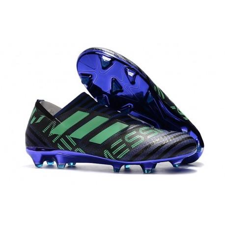 Crampons de Football Hommes - adidas Nemeziz 17+ 360 Agility FG Encre Vert Noir
