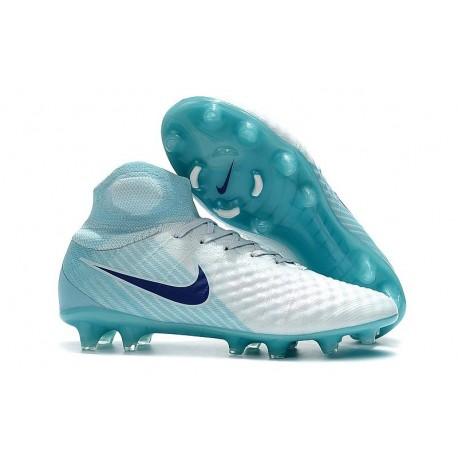 Nike Magista Obra 2 FG Nouveaux Crampons Foot Pour Hommes Blanc Bleu